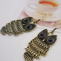 New Style Fashion Retro Owl Shape Earrings Bronze_Earrings_Jewellery_Fashion Clothing Online, Wholesale, Wholesale Fashion Clothing, Cheap Fashion Clothing Store Online - Group The World, shopping all world