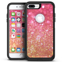 Unfocused Pink and Gold Orbs - iPhone 7 or 7 Plus Commuter Case Skin Kit