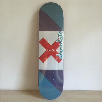 "Landing Target 8"" Canadian Maple Blue Skateboard Deck"