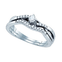 Diamond Fashion Ring in 10k White Gold 0.14 ctw