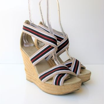 MIA 'Ravishing'  Wedge Espadrille Strappy Sandals 6.5