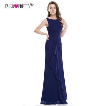 Robe De Soiree Navy Blue Evening Dresses 2018 Ever Pretty EP08796 New Elegant Little Mermaid Backless Long Formal Party Gowns