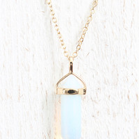 Iridescent Stone Necklace