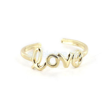 Gold Love Ring, Rings, toe ring, midi ring, dreamcatcher, jewlery, gold plated jewellery