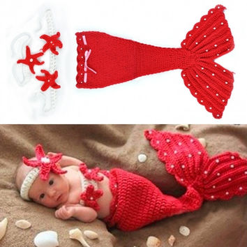 New Fashion Newborn Infant Baby Crochet Wool Suit Clothes Photo Prop Outfits Animal Design