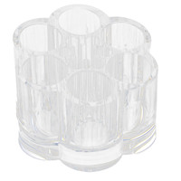 UXCELL Acrylic Plum Blossom Shaped Cosmetic Container Storage Box Makeup Organizer