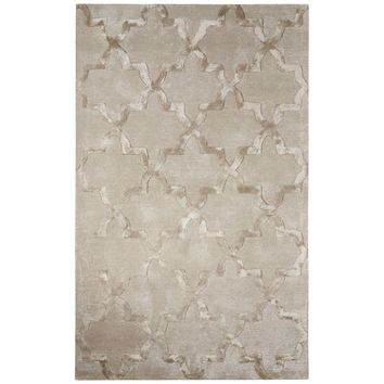 Neha Gray Silk Hand-Tufted Area Rug