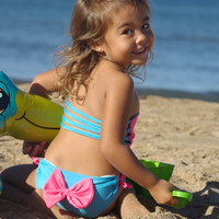 ANDRINA: Baby Bikini REVERSIBLE TOP create your own couture swimsuit