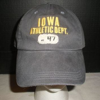 DCCK7BE Nike Iowa Hawkeye's Athletic Dept. One Size Hat Cap New with Tags