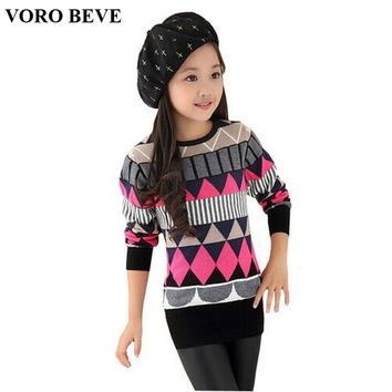 VORO BEVE autumn winter big girl sweater pullover knitted children sweaters Kids sweater for Teen girls children's clothe enfant