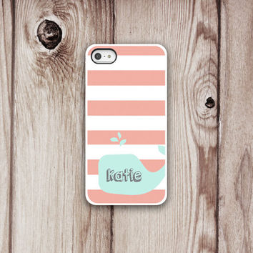 Whale Iphone Case - Iphone 5 - Iphone 4 - Iphone 4s - Iphone Cover -  Nautical Phone Cases by Luv Your Case (164)