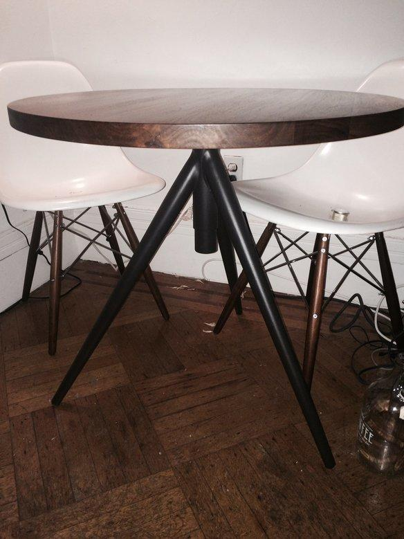 Attrayant West Elm Round Adjustable Bistro Table Wood Top