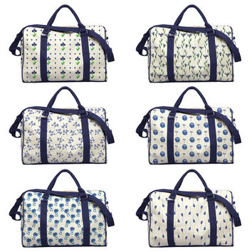 Watercolor Floral Patterns Printed Canvas Duffle Luggage Travel Bag WAS_42