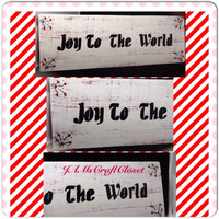 Joy to the World-Handmade-Hand Painted-Wood Sign-Holiday Decor-Christmas Decor-Christmas-Decoration- Gift-Home Decor-Country Decor-Victorian