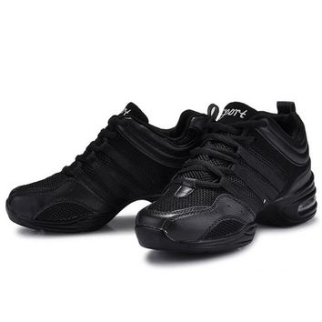 New Jazz Dance Shoes Women Ladies Fitness Soft Outsole Breath Teachers Latin Salsa Modern Dance Sneakers Zapatos Baile