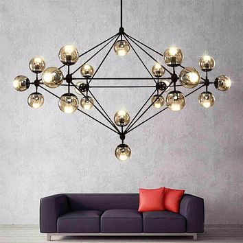 LED Retro Lamps Lights  Glass Chandelier