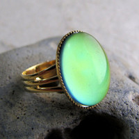 Mood Ring  Thats so Retro  Gold by AshleySpatula on Etsy