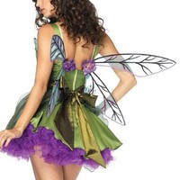 Leg Avenue Women's Backless Woodland Sprite Fairy Wings Costume Accessory, Green/Purple, One Size