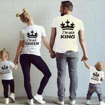 Family Matching Father Mother Daughter Son Royal Shirt