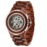 MEKU Handcrafted Wood Watch Mens Made With 100% Natural Sandalwood Limited Edition-Retro Series