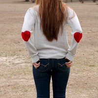 Heart Upon My Sleeve Sweater: Ivory