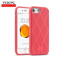 For iphone 7 Case iphone 7 plus case Fashion Hollow silicone Case luxury Hit Color Back Cover Soft TPU Coque shell anti knock