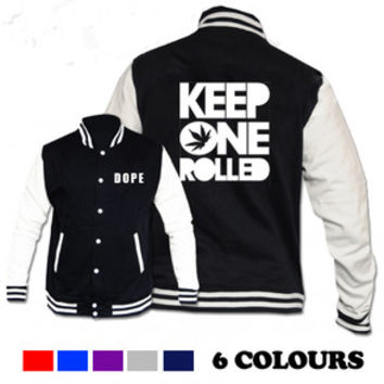 DOPE VARSITY JACKET KEEP ONE ROLLED MACMILLER TAYLOR GANG SWAG WIZ KHALIFA