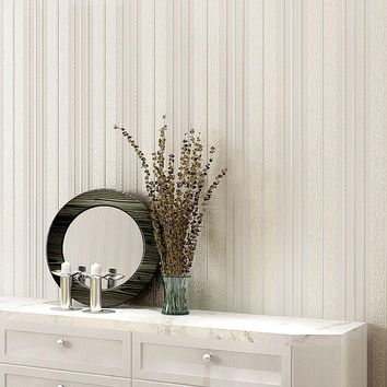 Modern Simple 3D Embossed Vertical Striped Wallpaper Living Room Bedroom Backdrop Wall Paper For Walls 3 D Non-Woven Wallpapers
