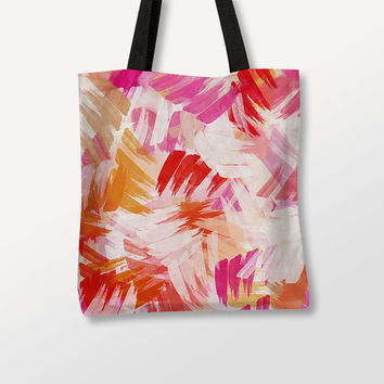 Bags For Women, Pink Abstract Art, Graphic Tote Bag, Gift For Her