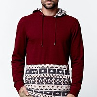 On The Byas Kai Pieced Hooded Shirt - Mens Shirt - Red