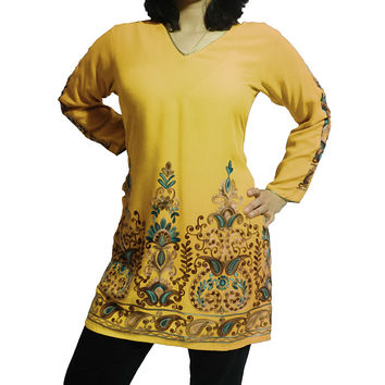 Exquisite Tunic with Hand Embroidery in Various Colors (Customizable)