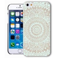 ChiChiC Iphone case, i phone 6 case, iphone6 case,iphone 6 case,iphone 6 4.7 cases, plastic cases back cover skin protector,geometric turquoise mandala wood grain
