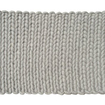San Juan Gray Wool Flat Braid Rug