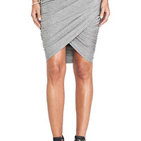Grey Slim Bodycon Skirt