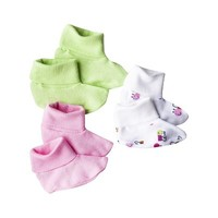 Gerber® Newborn Girls' 3-Pack Bootie - Assorted 0-6 M