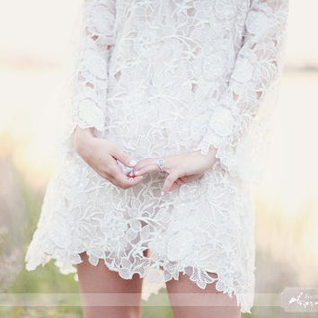 Romantic dress gorgeous french lace silk lining by SashCouture1