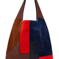 Leather, Suede, and Corduroy Grande Shopper | Moda Operandi