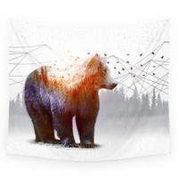 Society6 A Wilderness Within / Bear Wall Tapestry