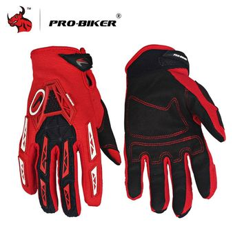 PRO-BIKER Motorcycle Gloves Luvas Breathable Knight MTB Bike Bicycle Gloves Motocross Off-Road Riding Gloves Moto Gloves