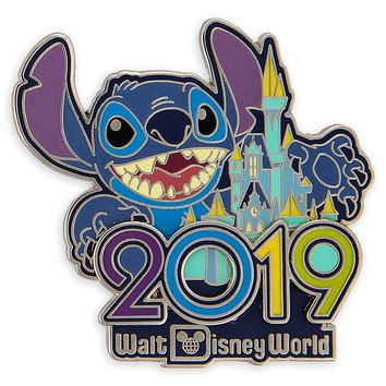 Disney Parks 2019 WDW Stitch Pin New with Card