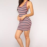 Simply Stripe Mini Dress - Multi