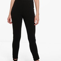 Eva Crepe Stretch Skinny Trousers | Boohoo