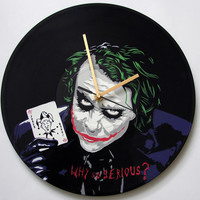 Joker vinyl record clock