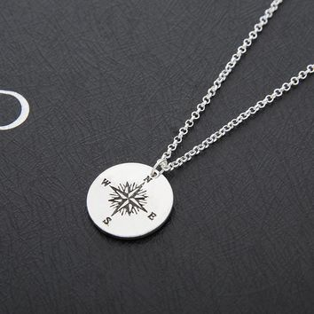 New Arrival Gift Shiny Jewelry Stylish Accessory Hot Sale Silver Necklace [11666780879]