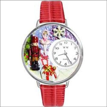 Christmas Nutcracker Watch in Silver (Large)