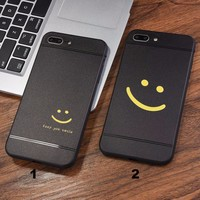 Fashion Simple smile face mobile phone case for iPhone X 7 7plus 8 8plus iPhone6 6s plus -171209