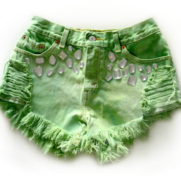 "ALL SIZES ""Enchanted"" High Waisted Shorts"