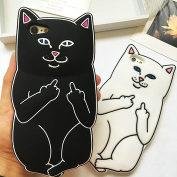 For iPhone 6 Case Silicone 3D Pocket Cat Kitten Soft TPU Case Cover For Coque iPhone 6 Plus 6S Plus 7 7 Plus 6 6S 5 SE 5S Case