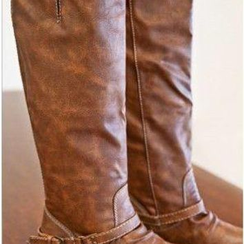 Remington Tan Tall Riding Boots :: Gypsy Ranch Boutique