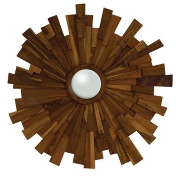 Industrial Wooden Mirror | Global Views